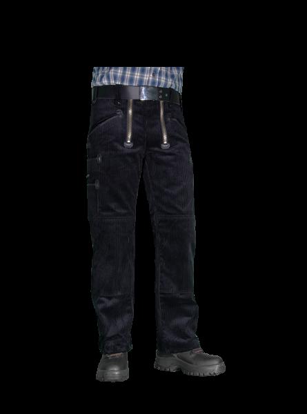 Zunfthose TrenkerCord mit Knietaschen, ohne Schlag, schwarz 535 g/qm