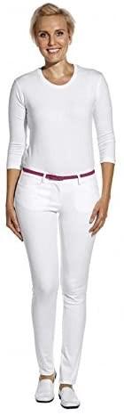 Damen-Hose Bi Stretch weiß Größe 34